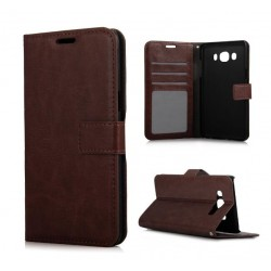 Samsung Galaxy J3 2016 Wallet Case - Brown